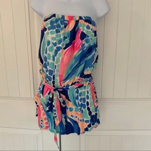 Lilly Pulitzer sleeveless belted ritz romper sz XS